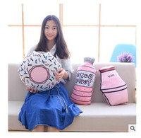 Wholesale Baby Nursery Toys - Kids Toys Stuffed Cushion Doughnut Throw Pillows Bed Nursery Decoration Play Toy Baby Girl Sleeping Pillow Birthday Gift Free Shipping