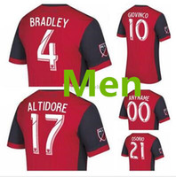 Wholesale soccer jersey customized yellow - 2017 Toronto FC home Soccer Jersey 17 18 #10 GIOVINCO Red Soccer Shirt Customized MLS football uniform Sales factory Outlet