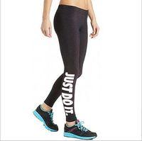 Wholesale sex yoga pants for sale - Brand Designer Sport Sex Yoga Pants quot JUST DO IT quot Print Capris Elastic Tight fitting Leggings Slim Fitness Pencil Fashion Trousers PWDK1