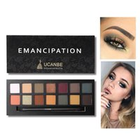 Wholesale mineral eyeshadow sets resale online - UCANBE Color Matte Matallic Eyeshadow Palette Glitter Eye Shadow Nude Mineral Light Shades Smoky Makeup Set Beauty Cosmetic