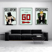 Wholesale monopoly art online - Alec Monopoly Pieces Home Decor HD Printed Modern Art Painting on Canvas Unframed Framed
