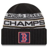 beyzbol boncuk şapkaları toptan satış-Yeni Boston SERISI ŞAMPIYONLAR Kış Beanie WS Sideline Soğuk Hava Spor Örgü Şapka ayarlanabilir snapback futbol beyzbol Kap Damla Nakliye