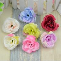 gefälschte mini-rosen großhandel-Mini Künstliche Blumen Seide Rosen Köpfe für Hochzeitsdekoration Party Gefälschte Scrapbooking Blumenkranz Wohnaccessoires 10 teile / los