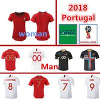 Wholesale women training suits - 2018 World Cup Home away Jersey Training suit 4 MIGUEL 7 8 SILVA 17 NANI 22 CARVALHO Men woman Soccer jerseys