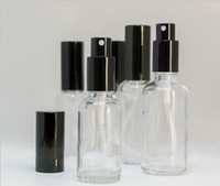 Wholesale price for spray bottle for sale - Group buy Best Factory Price ml Glass Spray Bottles Clear Atomizer Refillable Bottles Vial With Black Cap For Essential Oil Perfume Cosmetic