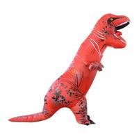 erwachsene dinosaurier kostüm großhandel-Erwachsene aufblasbare Dinosaurier T REX Kostüm Jurassic World Park Blowup Dinosaurier Cosplay Aufblasbare Kostüm Party Kostüm spielzeug 3 stücke