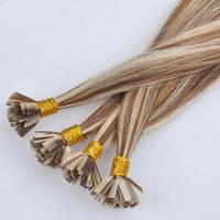 Wholesale keratin remy human hair - ELIBESS Hair -Flat Tip Keratin Hair Extensions 1g stand 100strands set Prebonded Human Hair On Sale