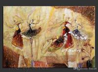 ingrosso ragazza di ballo della pittura a olio-Dipinto a mano di buona qualità all'ingrosso dancing girl wall art casa pittura a olio ballerino di danza classica arte astratta decorazione dell'ufficio