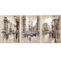 Wholesale Triptych Abstract Paintings - wholesale Diamond Painting Cross Stitch Kits Full Diamond Embroidery 5D Full Diamond Mosaic Decor Abstract City Street triptych HD020