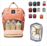 Wholesale Brand Maternity - Mommy Nappy Bags Mommy Backpacks Brand Mom Nappies Bags Mother Backpack Diaper Maternity Backpacks Large Nursing Outdoor Travel Bag By DHL