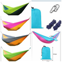 Wholesale parachutes for kids - 250*140cm Camping Hammock for Kids Outdoor Portable Double Parachute Travel Portable Parachute Hammock Camping Hammock KKA4181
