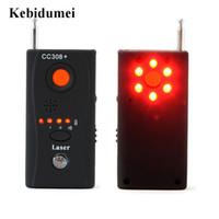 mini kamera dedektörleri toptan satış-Kebidumei CC308 Mini Kablosuz Kamera Gizli Sinyal GSM Cihaz Bulucu Anti-Bug RF Sinyal Dedektörü Toptan Tespit