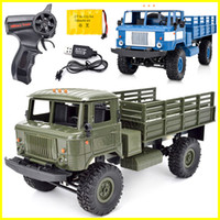 Wholesale rc models cars - Rc cars Naughty dragon b-24 rc trucks four-wheel drive off-road climb 1:16 military electric model toy rc car for kids toys