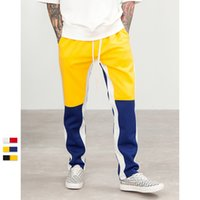 Wholesale Vintage Mens Style - Justdon New Justin Bieber FOG style Autumn Mens Hiphop Sportswear Pants Side Stripe Patchwork Pants Elastic Waist Vintage Casual Mens Pants
