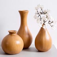 ingrosso mini vasi blu-Vaso per fiori grande in legno Vaso per fiori in legno tradizionale Vaso per fiori