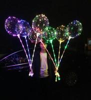 balões de anos novos venda por atacado-Recém 20 polegada LED Balão de Luz Levou BoBo Balão Luzes Para O Aniversário de Casamento de Natal Decorativo ano novo Festa Ao Ar Livre (Varejo)