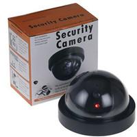 dummy security cameras achat en gros de-Simulation caméra Simulation vidéo de sécurité Surveillance Faux Dummy Ir Led Caméra Dôme Générateur de Signal Santa Security Supplies YW1506