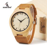 reloj de marca de teléfonos móviles al por mayor-atch mobile 2012 BOBO BIRD Diseñador de la marca Fashion Loves Relojes de madera de bambú Relojes de cuarzo analógicos japoneses con movimiento 2035 ...