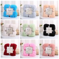 Wholesale Soft Plush Blanket Keep Warm cm Double Layer Throw Blankets Bedding Supplies Home Bedroom Decor Multi Color by C