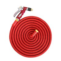 Wholesale expandable garden hose wholesale for sale - FT Multipurpose quintuple expandable Magic Garden Threaded Hose Washing Car bronze water gun Watering Kits