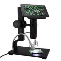 microscopio movil al por mayor-Andonstar ADSM302 5 Pulgadas Pantalla LCD Digital Microscopio HDMI 3MP Lupa de Grabación de Video para PCB Reparación de Teléfono Móvil de Soldadura