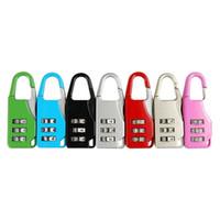 fechaduras de combinação de alta qualidade venda por atacado-3 Código Dígito Seguro Combinação de Bagagem de Bloqueio de Senha Cadeado Mala de Viagem Caixas de Bagagem de Segurança de Alta Qualidade