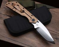 bronz bıçaklar toptan satış-Titanyum kolu Strider Bronz Devri bıçak En iyi katlanır çakı Titanyum alaşım kolu D2 çelik bıçak Rulman yapısı en iyi hediye bıçaklar