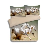 Wholesale animal galloping for sale - Galloping White Horses Animal D Printed Comforter Bedding Set Quilt Duvet Cover Bedclothes Twin Full Queen King Size Adult Home
