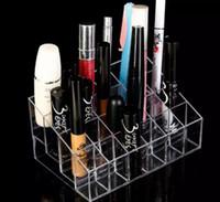 kosmetiktische großhandel-Klar Acryl Ständer Cosmetic Organizer transparent Halter Display Lippenstift Display Ständer Rack bilden Halter Tisch Veranstalter Box FFA1204
