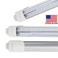 soğutucu kapı ışığı 6 ft toptan satış-T8 LED Tüp Işık R17d 8ft 6FT 5FT 4FT LED V-Şekli 270 ° Çift sıralı Işık soğutucu kapı için 28 w 72 w tüpleri AC85-265V CE UL