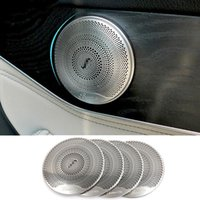 Wholesale 4pcs Chrome Door Speaker Cover Trim for Mercedes Benz C E Class W205 W213 GLC200 Car Accessory