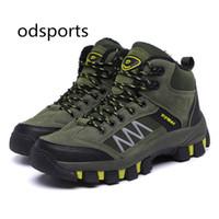 наружные высокие походные туфли оптовых-High Quality Unisex Hiking Shoes New Autumn Winter  Outdoor Mens Sport Cool Trekking Mountain Gray Green