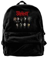 Wholesale college backpack bags for boys for sale - Group buy Canvas Backpack Slipknot Heavy Metal Band Logo Casual Computer College Bag Daypack For Travel Hiking Camping