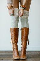 häkelsocken design großhandel-Neues Design Hohe Qualität Oberschenkel Hohe Overknee Socken Lange Twist Cotton Strümpfe Frauen Winter Warmer Weiche Knit Crochet Socke