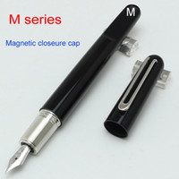 Wholesale Newson Limited edition colours clip MB black resin Magnetic closure cap fountain rollerball pen business fashion brand cufflinks option