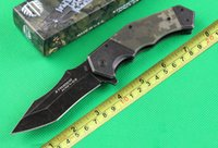 Wholesale knifes camo for sale - Group buy Camo STRIDER Cutting Tools Survival Folding Flipper Knife C Blade Tanto Fast Open Outdoor EDC Xmas Knives Inch Closed P146F