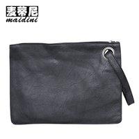 abend große taschen großhandel-Mode Frauen Handtaschen Leder Große Frauen Hülle Tasche Solide Weibliche Abendhandliche Taschen Einfache Designer Damen Tageskupplungen