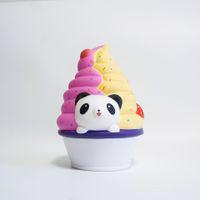 novidades para brinquedos panda venda por atacado-Grande Panda Ice Cream Squishy Bonito 16 cm Jumbo Lento Nascente crianças brinquedo presente FFA276 Novidade Itens 30 PCS