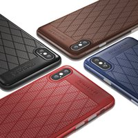 Wholesale brown leather cell phone cases online – custom Leather case for iphone XR XS MAX X S plus cell phone case cover for Samsung Galaxy S8 S9 S10 Plus Note slim soft grid cover luxury