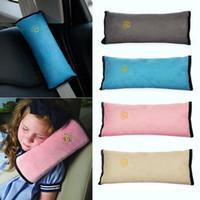 almohada atada al por mayor-Asiento de seguridad para niños Seguridad para el niño Cojín del cinturón Correa Arnés Hombro Sueño Almohada Cojín Apoyo Hombro Relleno OOA4842