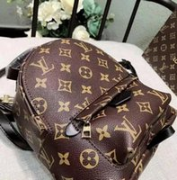 Wholesale womens size small - AAAAAA 2018 Top quality High quality Luxury brand Womens Backpacks Women Bags female PU Leather Ladies Travel Bag Fast shipping SIZE 18X9X21