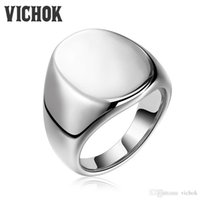 Wholesale Simple Ring Designs For Women - Simple 316L Stainless Steel Band Ring Silver Color Wedding Bands Male Ring Inoxidable Rings For Women Men anillos New Design VICHOK