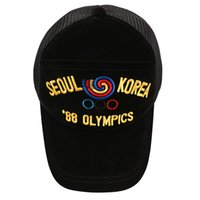 Wholesale Hat War - 17AW 1988 SEOUL OLYMPIC Embroidery GD Peaceminusone Peaked Cap Men Women Hats Seoul Olympics 1988 Anti War Pmo Limit Baseball Hat