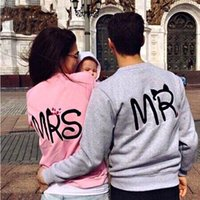 Wholesale Mr Color - sweatshirt hoodies harajuku Fashion Print MR and MRS Lovers Couples Sweatshirts for Autumn Men and Women tracksuits
