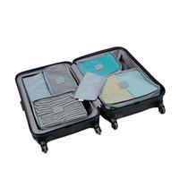 coisas senhoras venda por atacado-Organizador de viagem 7 pçs / set Portáteis Mulheres Senhora Saco de Viagem Para Roupas Stuff Tidy Pouch Packing Cubos Mala Organizador