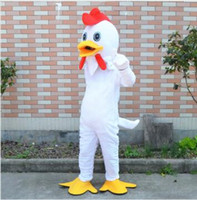 Wholesale Custom Chicken Costume - New Style Adult Cute BRAND Cartoon New Professional White Chicken Mascot Costume Fancy Dress Hot Sale Party costume Free Ship