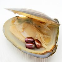 Wholesale purple white silver decorations online - Oval Oyster Pearl New mm Same color Freshwater Natural Pearl Gift Loose Decoration Vacuum Pack