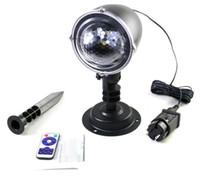 ingrosso proiettori di natale-Proiettore a LED con luce bianca per la proiezione di fiocchi di neve