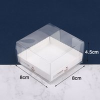 Wholesale muffin packing resale online - 8 cm Clear Egg Tart Box Muffin Cake Box Transparent PET Cupcake Box Food Pastry Packing QW8161