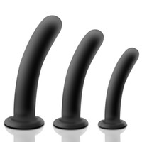 Wholesale anus stopper - 3 Size Silicone Butt Plug Anus Dildo Anal Plug Prostate Massage Vaginal Anal Butt Stopper Sex Toys for Men Woman H8-2-74